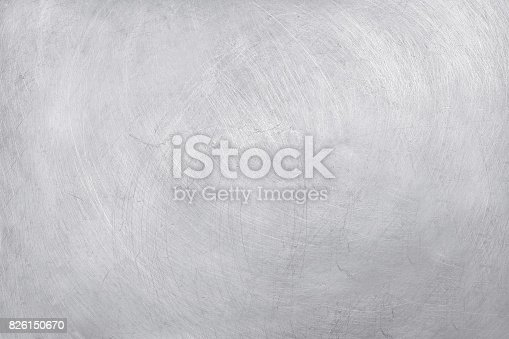 istock aluminium texture background, scratches on stainless steel. 826150670