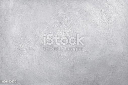 istock aluminium texture background, scratches on stainless steel. 826150670