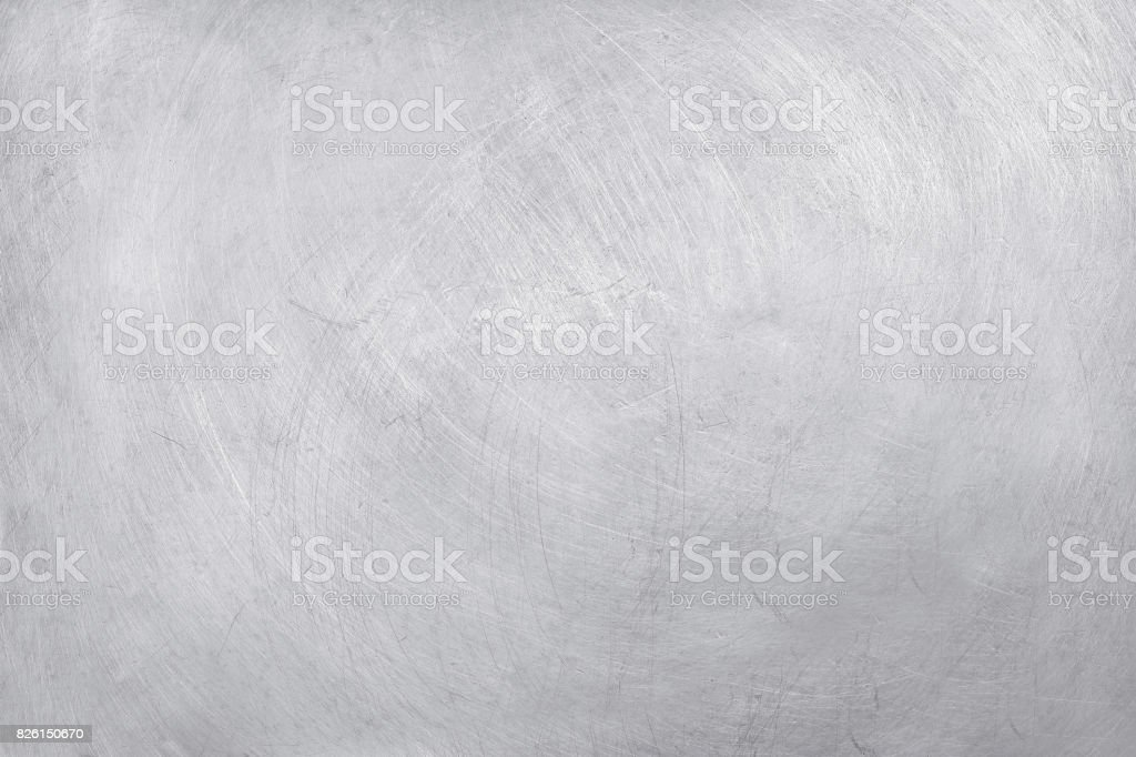 fond de texture en aluminium, rayures sur inox. - Photo