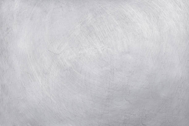 aluminium texture background, scratches on stainless steel. - steel stock photos and pictures