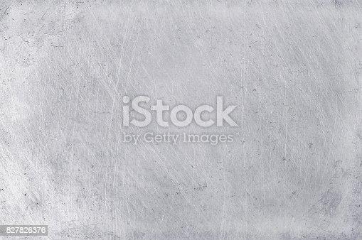 istock aluminium texture background, scratches on stainless steel. 827826376