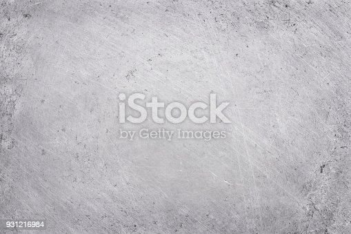 istock aluminium texture background, scratches on stainless steel. 931216984