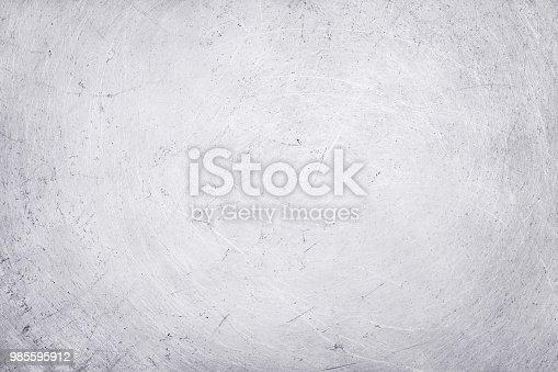 istock aluminium texture background, scratches on stainless steel. 985595912