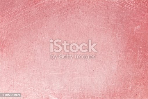 istock aluminium texture background with rose gold color, pattern of scratches on stainless steel. 1155381824