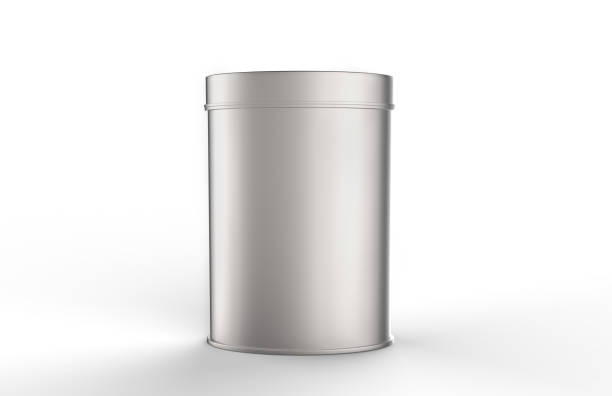 Aluminium Tin Can For Food Packaging stock photo