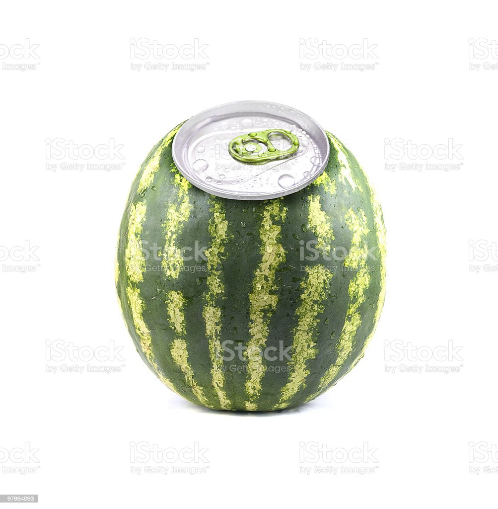 aluminium watermelon royalty-free stock photo