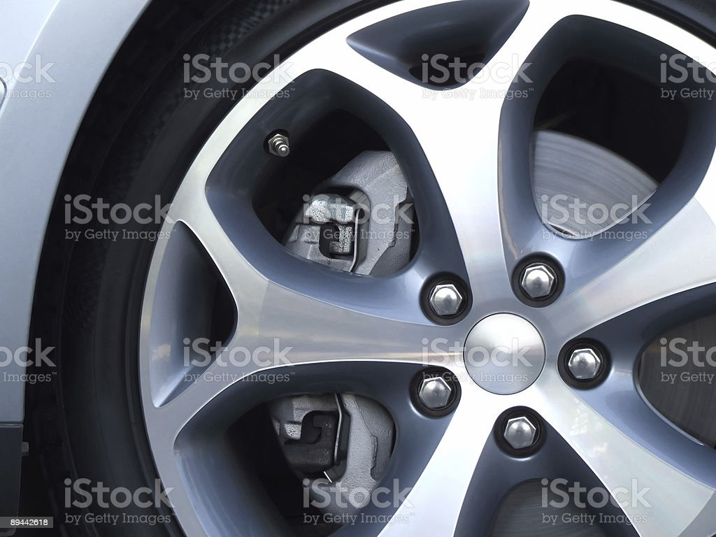 Aluminium wheel stock photo
