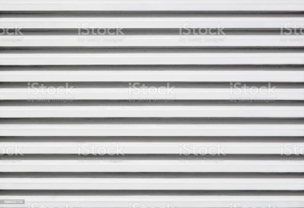 Aluminium zinc louver pattern stock photo