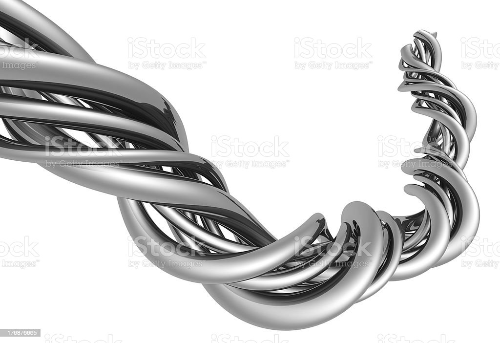 Aluminum abstract silver string royalty-free stock photo
