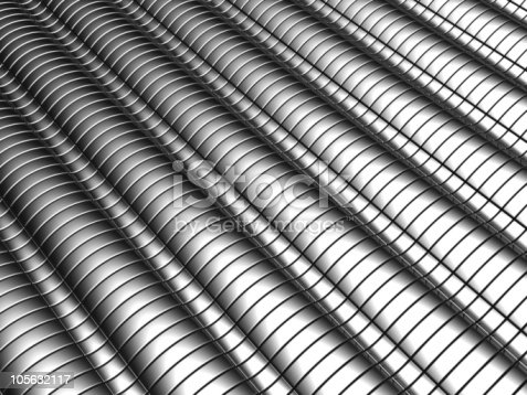 istock Aluminum abstract silver stripe pattern background 105632117