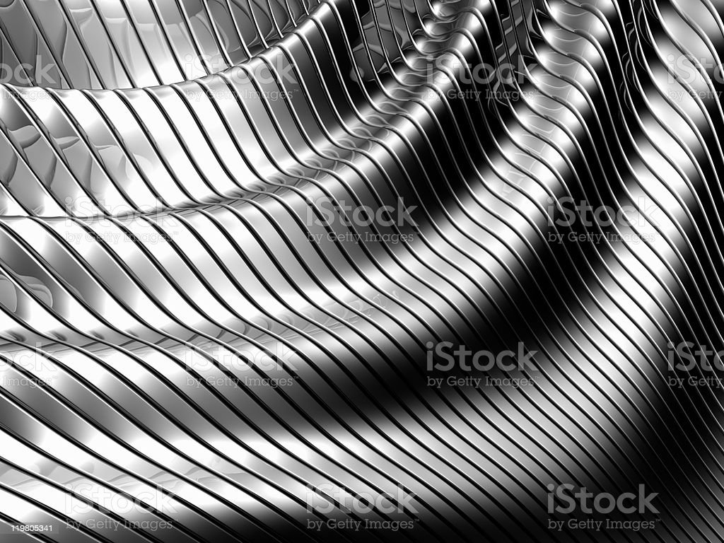 Aluminum abstract silver stripe pattern royalty-free stock photo