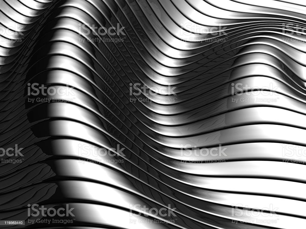 Aluminum abstract wave stripe pattern royalty-free stock photo