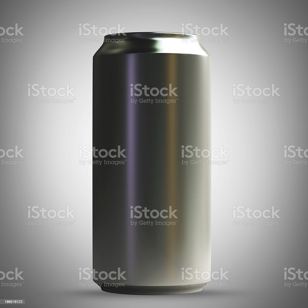 Aluminum beer can royalty-free stock photo