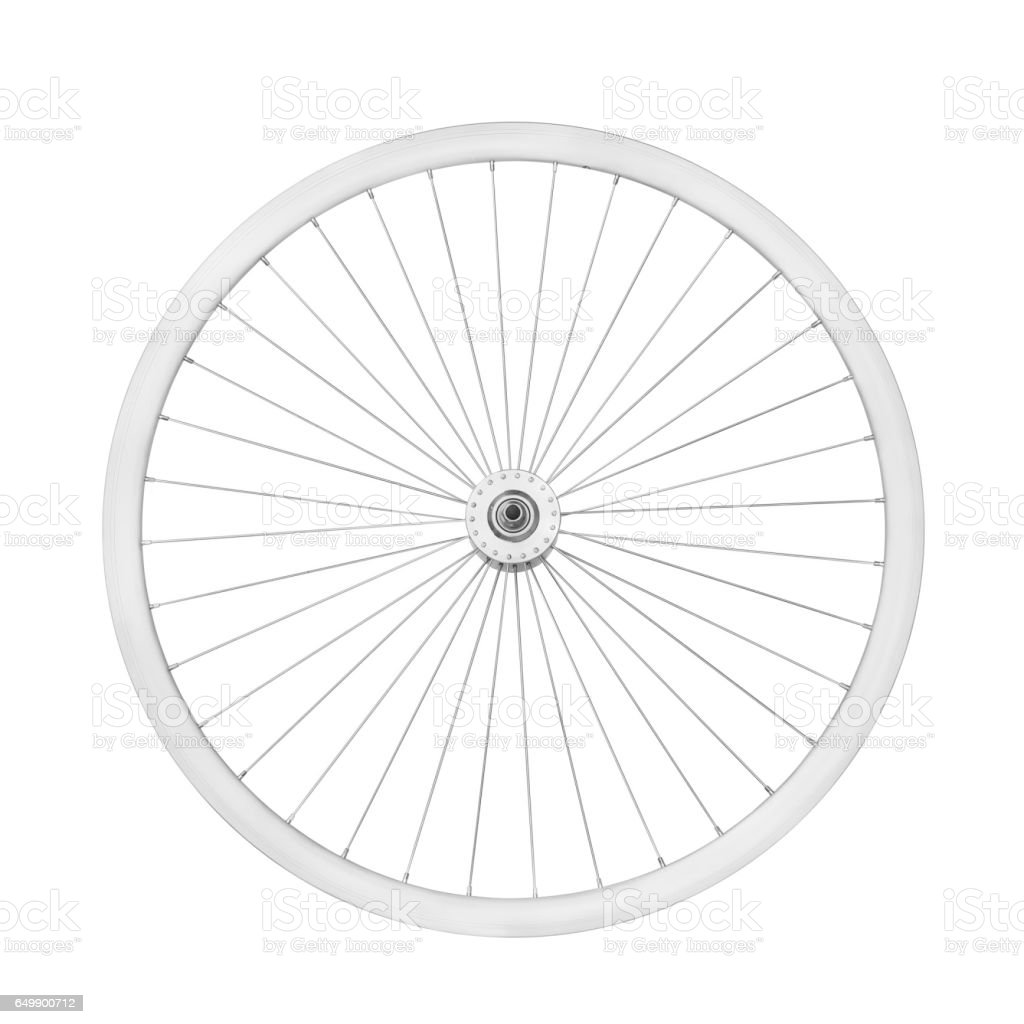 Aluminum bicycle wheel stock photo