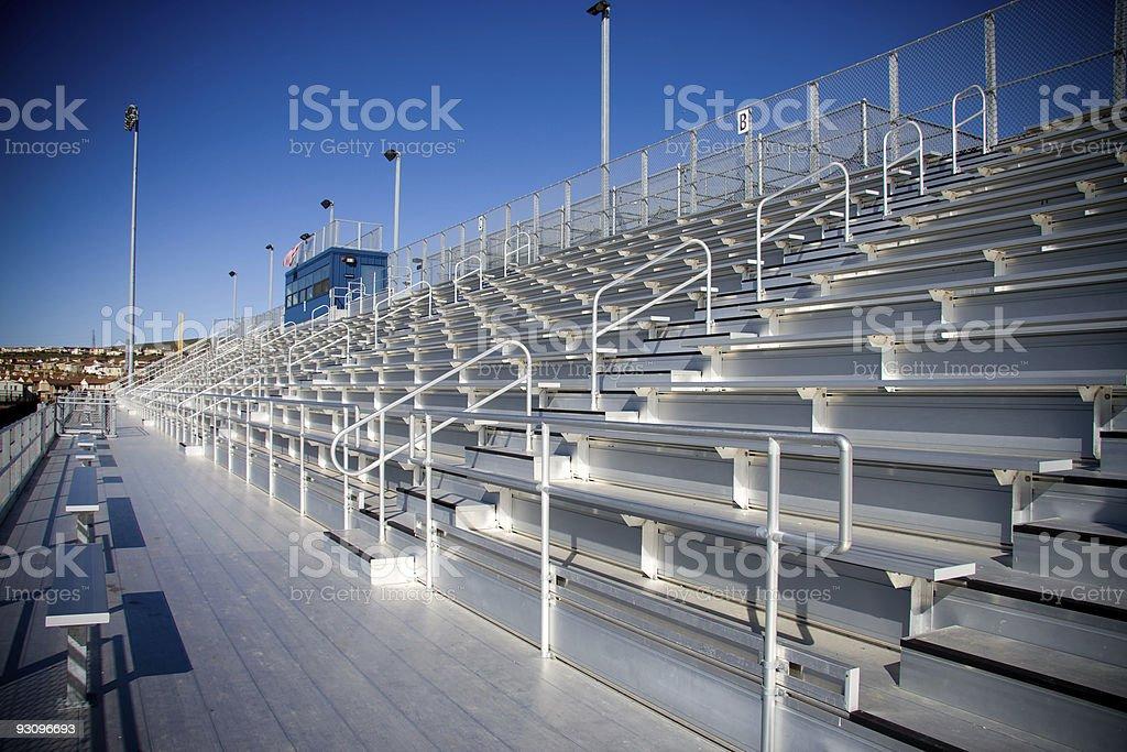 Aluminum Bleachers at a High School royalty-free stock photo