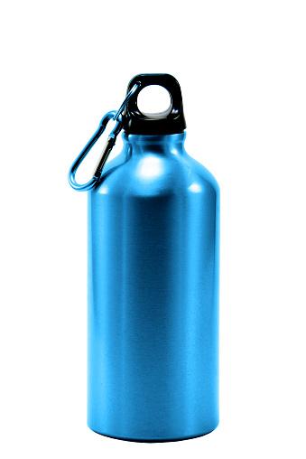 istock Aluminum bottle water isolated white background 544721614