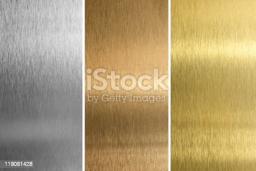 istock Aluminum, bronze and brass stitched textures 119061428