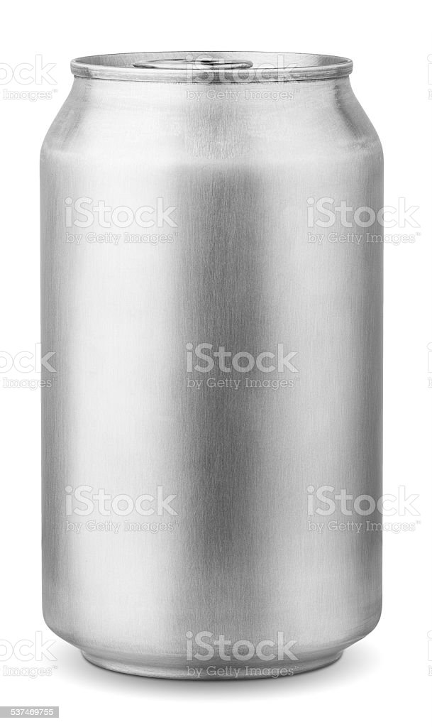 aluminum can 330 ml stock photo