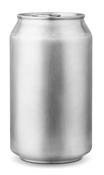 aluminum can 330 ml stock photo