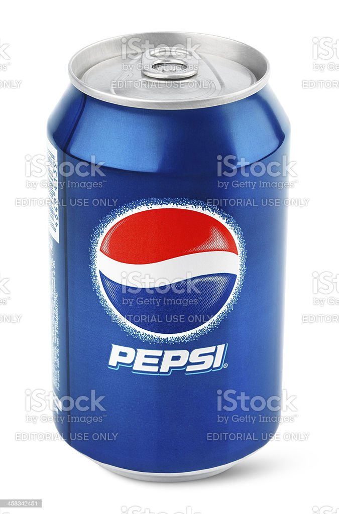 Aluminum can of Pepsi Cola royalty-free stock photo