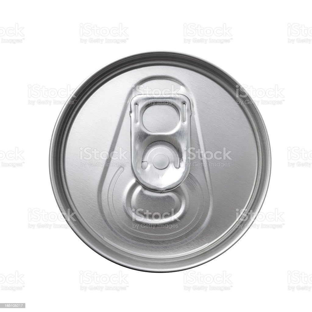 aluminum can top macro stock photo