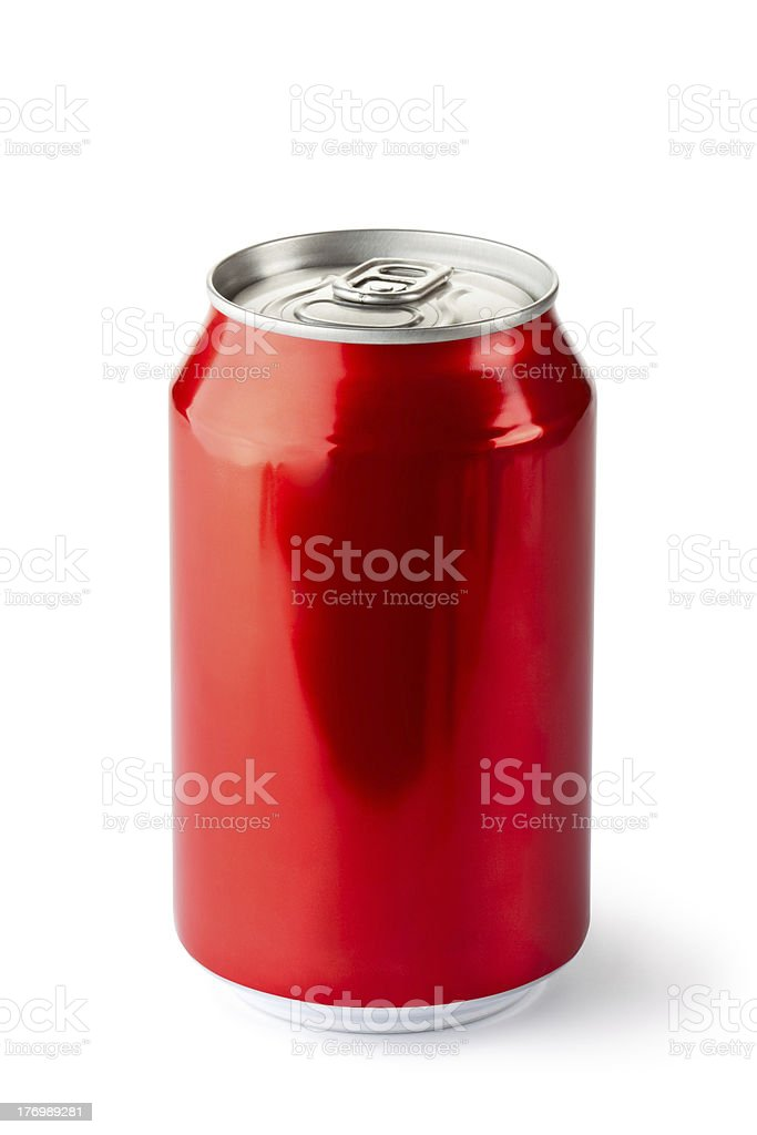 Aluminum can with the ring pull stock photo