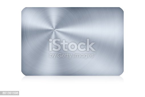 istock Aluminum card on white background,Clipping Path. 851361598