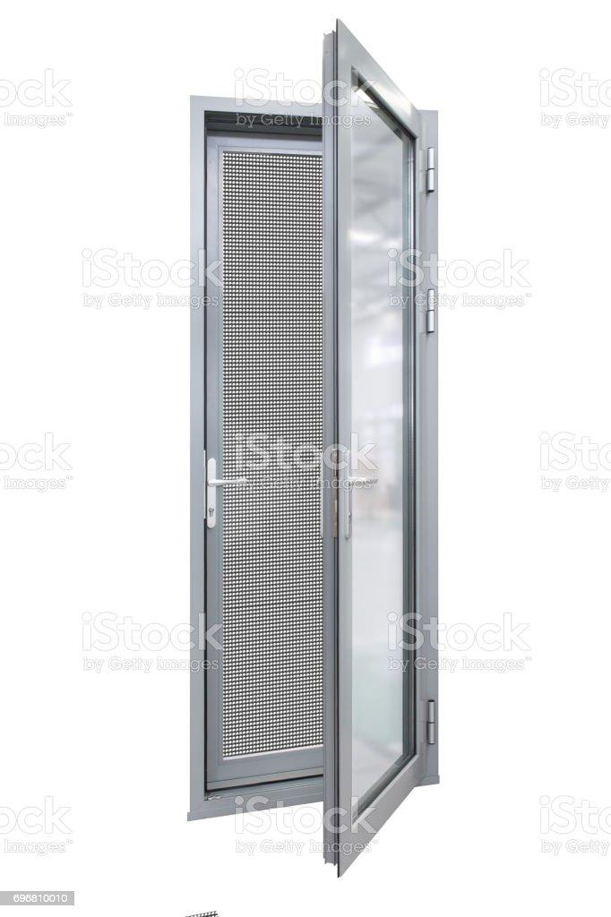 aluminum casement door stock photo
