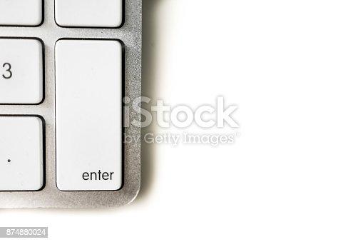 istock Aluminum computer keyboard 874880024