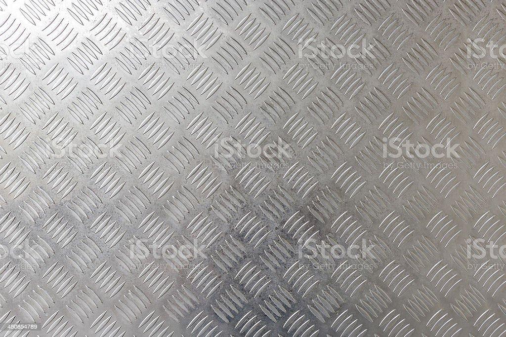 Aluminum diamond pattern Steel plate stock photo