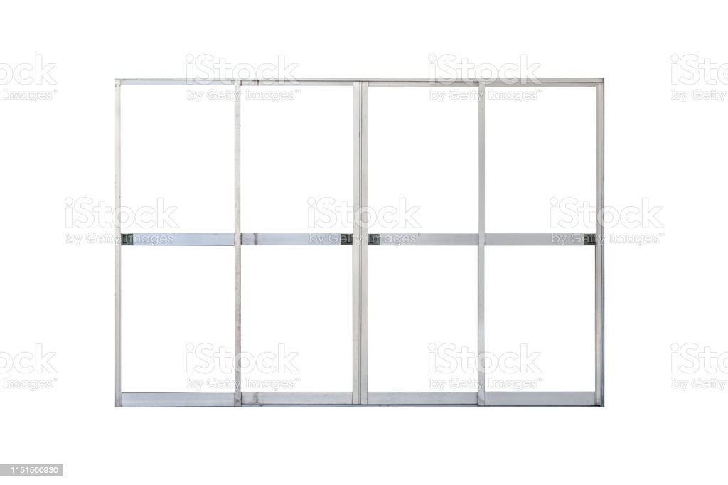 Aluminum Door Frame Isolated On White Background Stock Photo