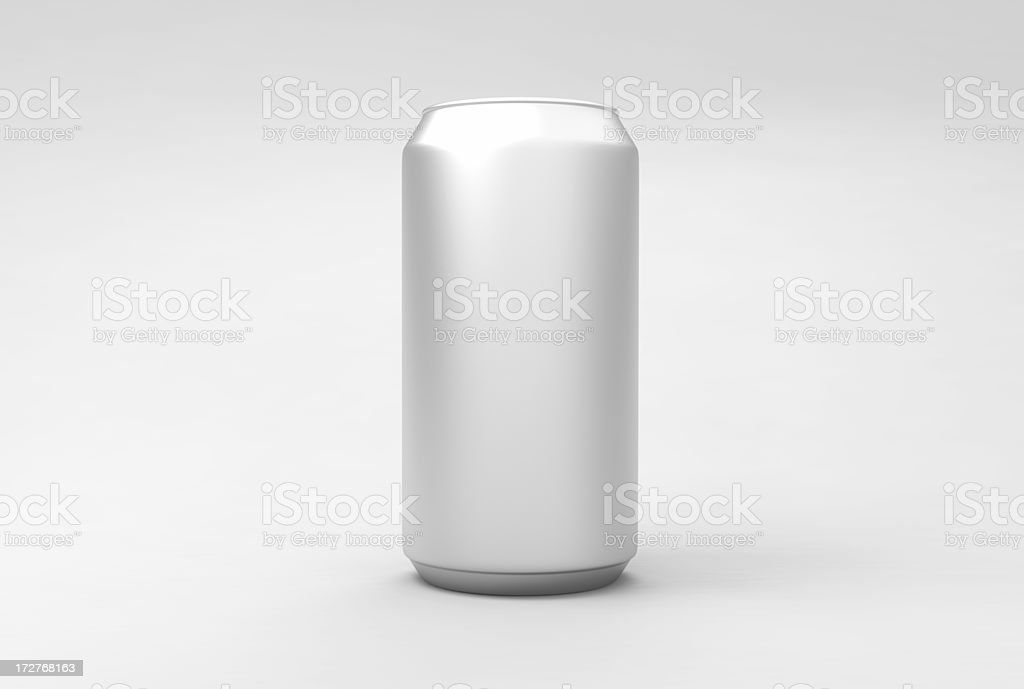Aluminum drink can (front) - clipping paths stock photo
