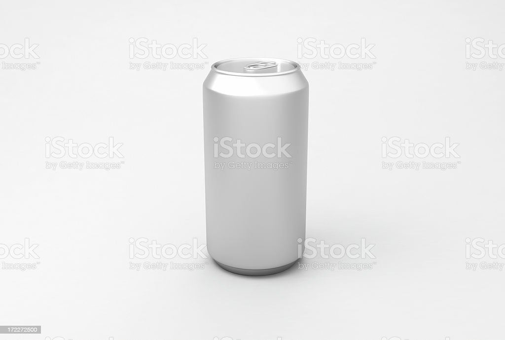 Aluminum drink can stock photo