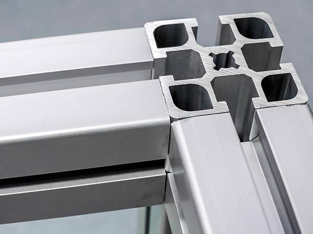 Aluminum Extrusions stock photo