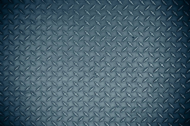 aluminum floor - diamond plate background stock photos and pictures