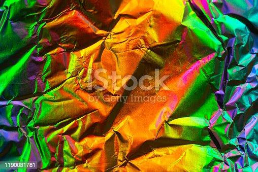 Colorful aluminum foil background