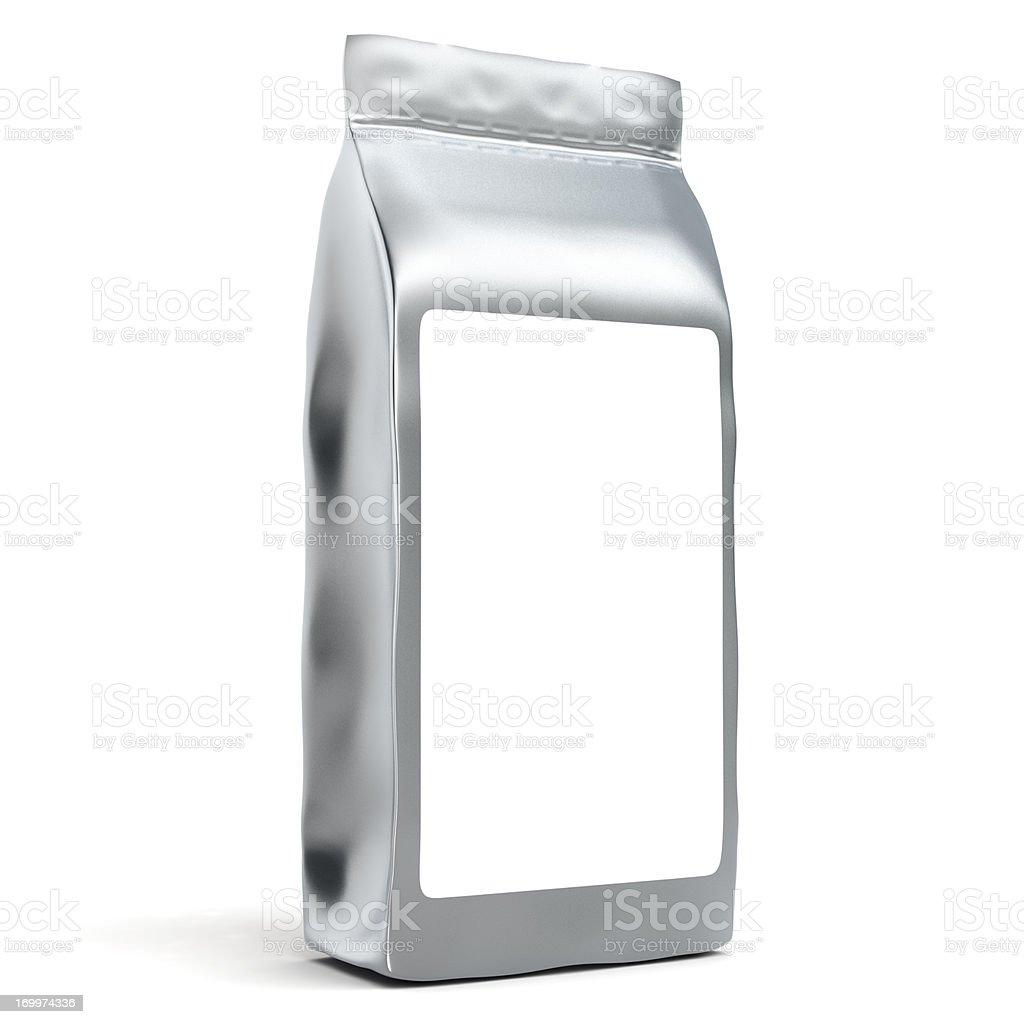 Bolsa de papel de aluminio con encapsulado - foto de stock