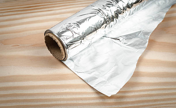Aluminum foil stock photo