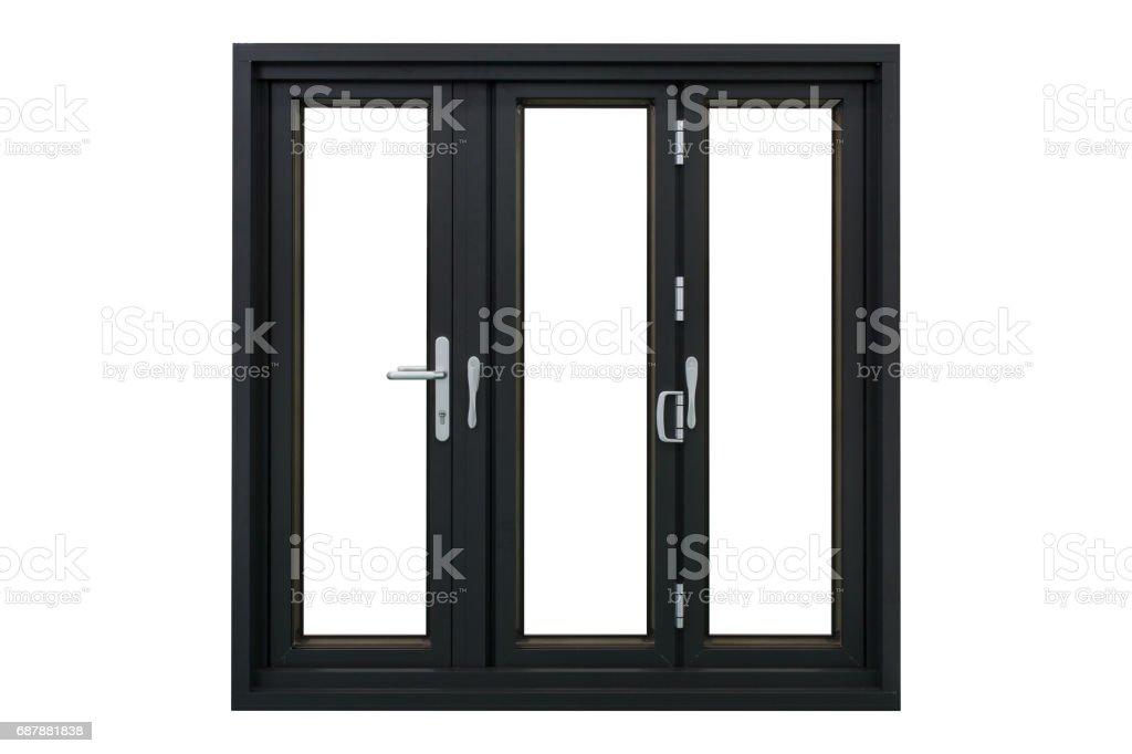 aluminum frame bi folding doors stock photo
