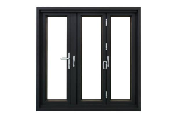 aluminum frame bi folding doors - klapprahmen stock-fotos und bilder