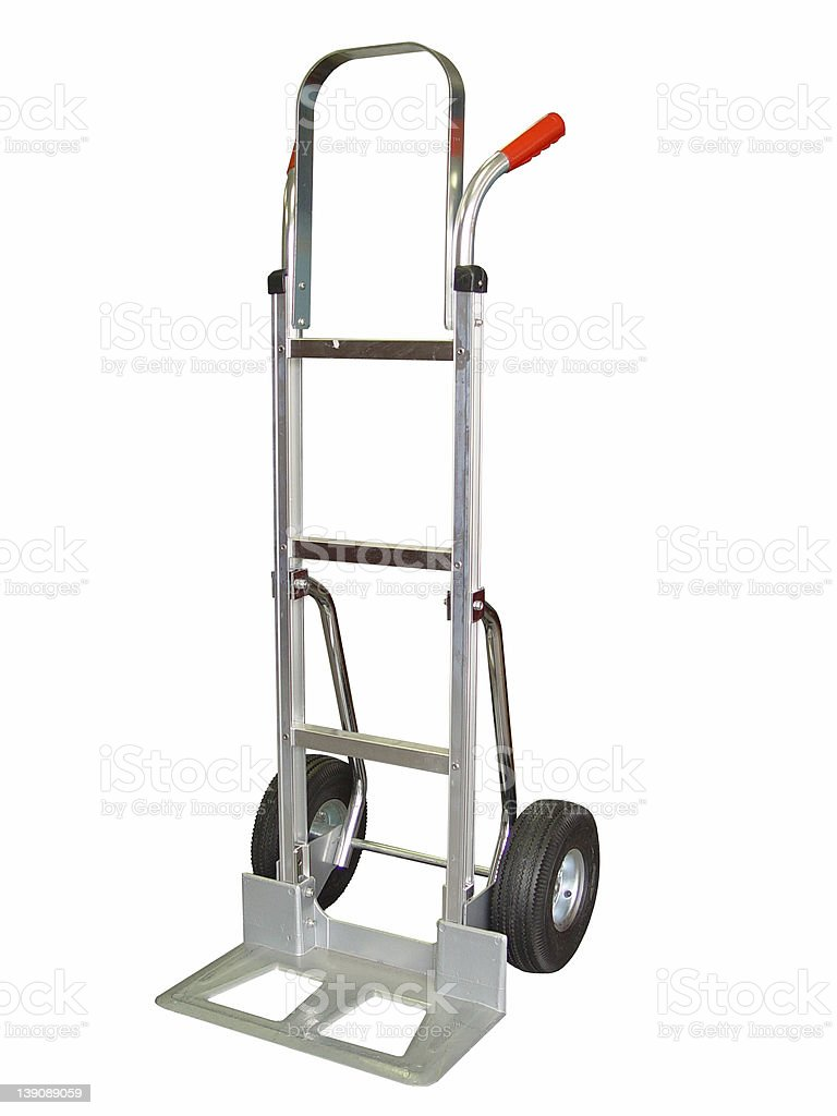 Aluminum Hand Truck Dolly royalty-free stock photo