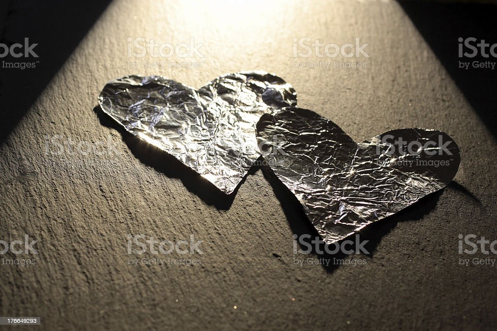 Aluminum hearts royalty-free stock photo