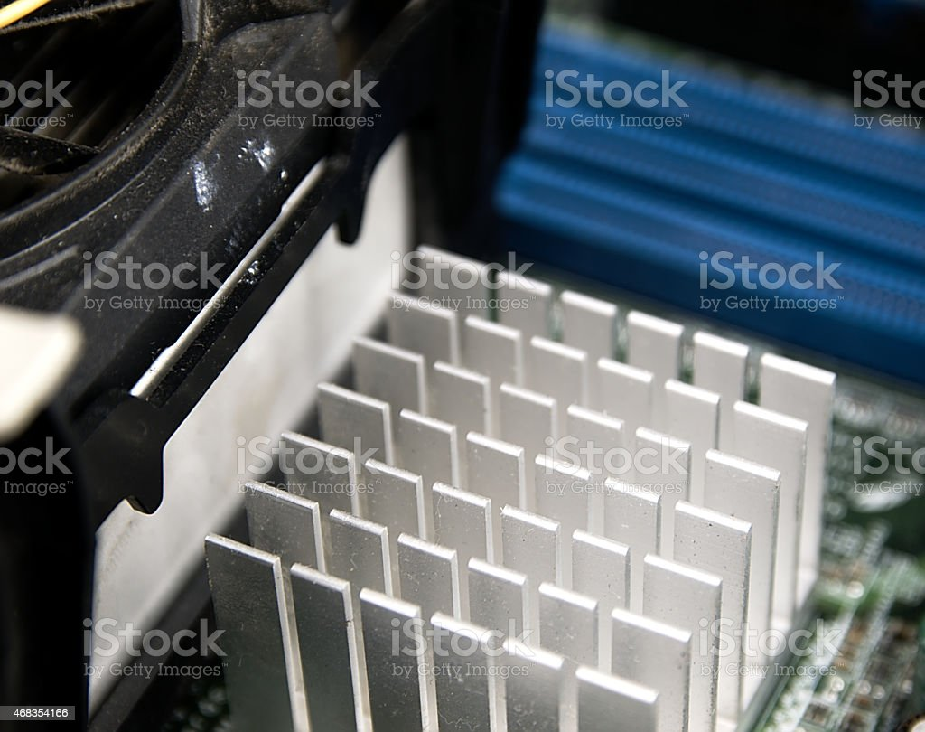 Aluminum heat sink. royalty-free stock photo
