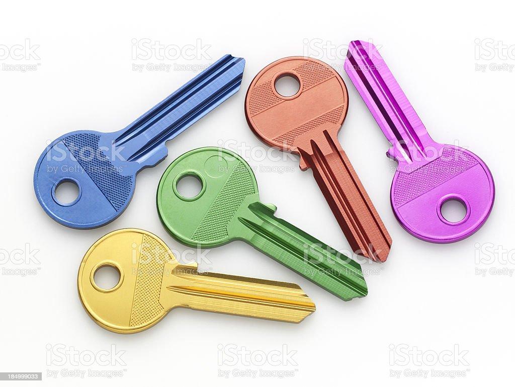 Aluminum keys royalty-free stock photo