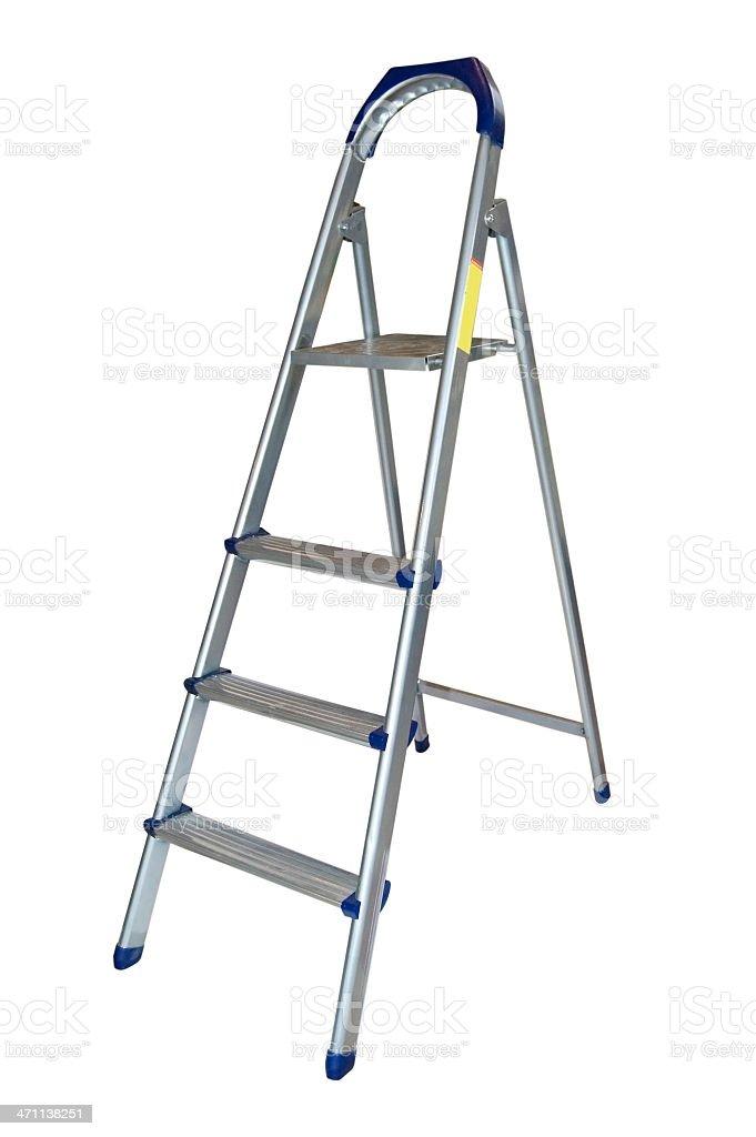 Aluminum ladder. stock photo