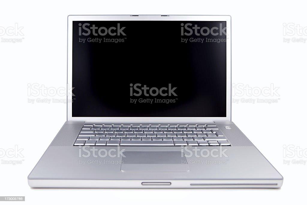 Aluminum Laptop royalty-free stock photo