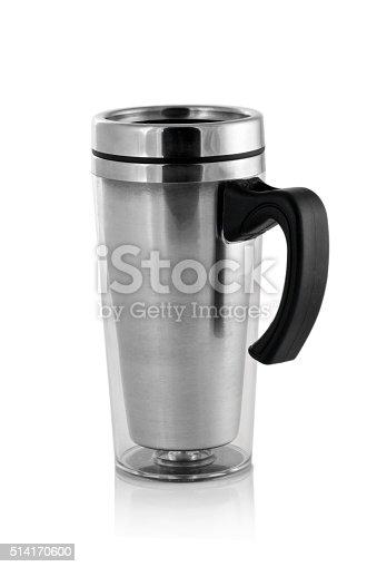 istock Aluminum mug isolated on white 514170600