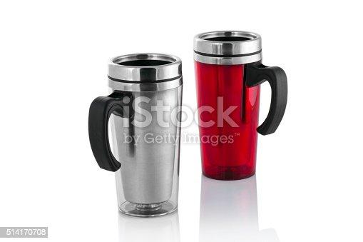 istock Aluminum mug isolated on white 514170708