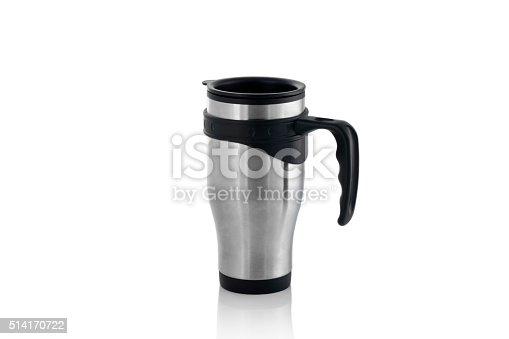 istock Aluminum mug isolated on white 514170722