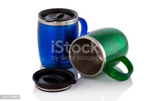 istock Aluminum mug isolated on white 514170802